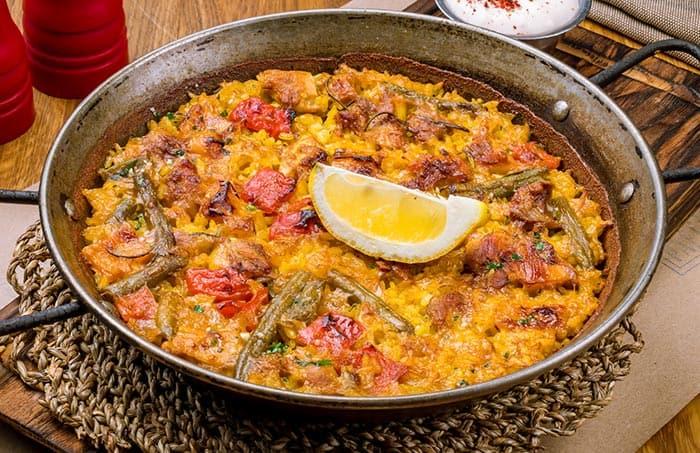 receta de paella de verduras casera