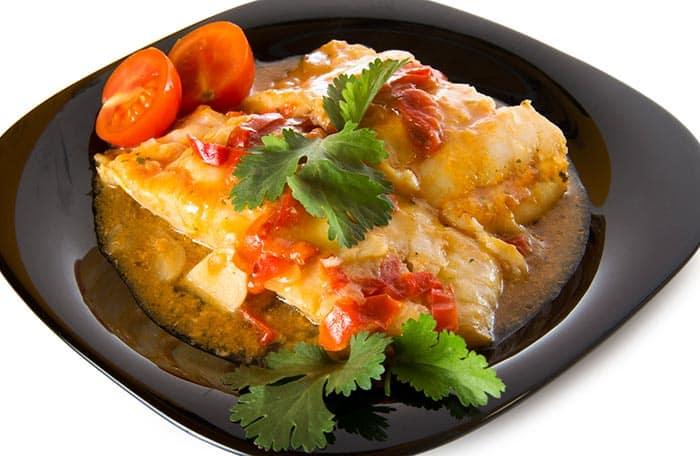 plato con bacalao a la riojana