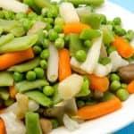 plato con menestra de verduras