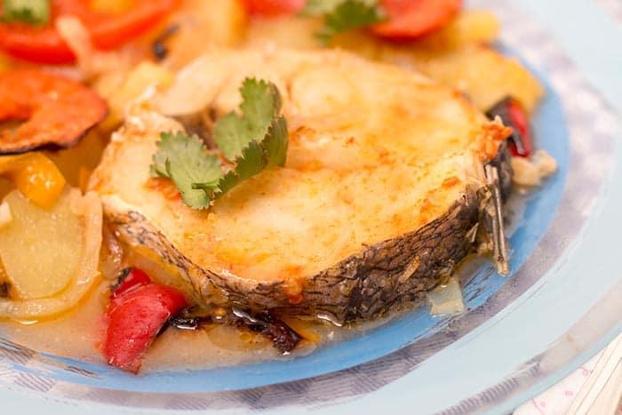 plato de merluza a la gallega