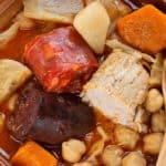 cazuela con cocido andaluz