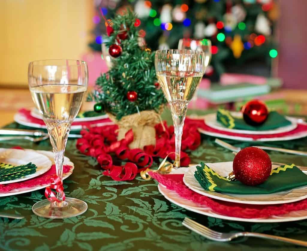 Mesa navideña por Pixabay