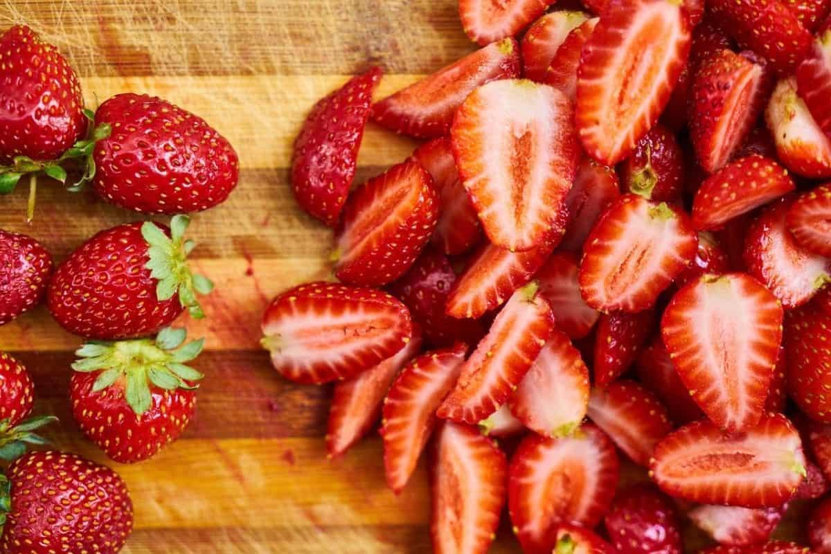 fresas picadas