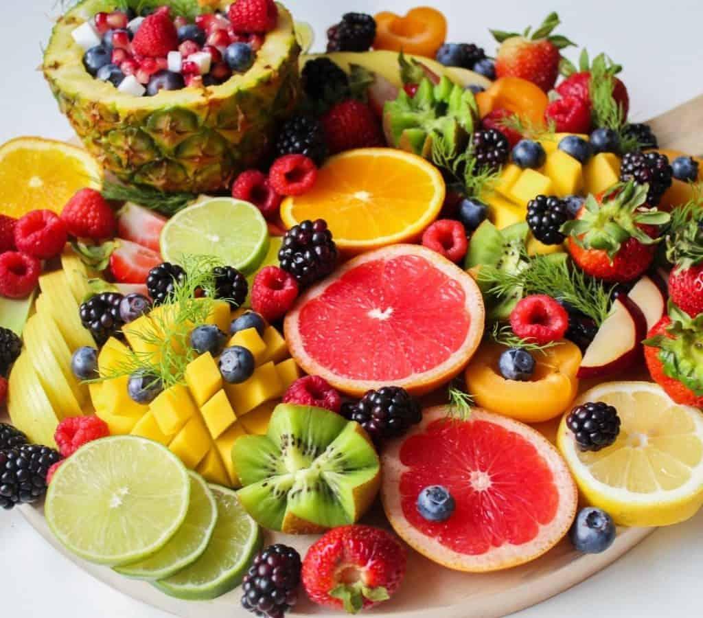 Plato con frutas