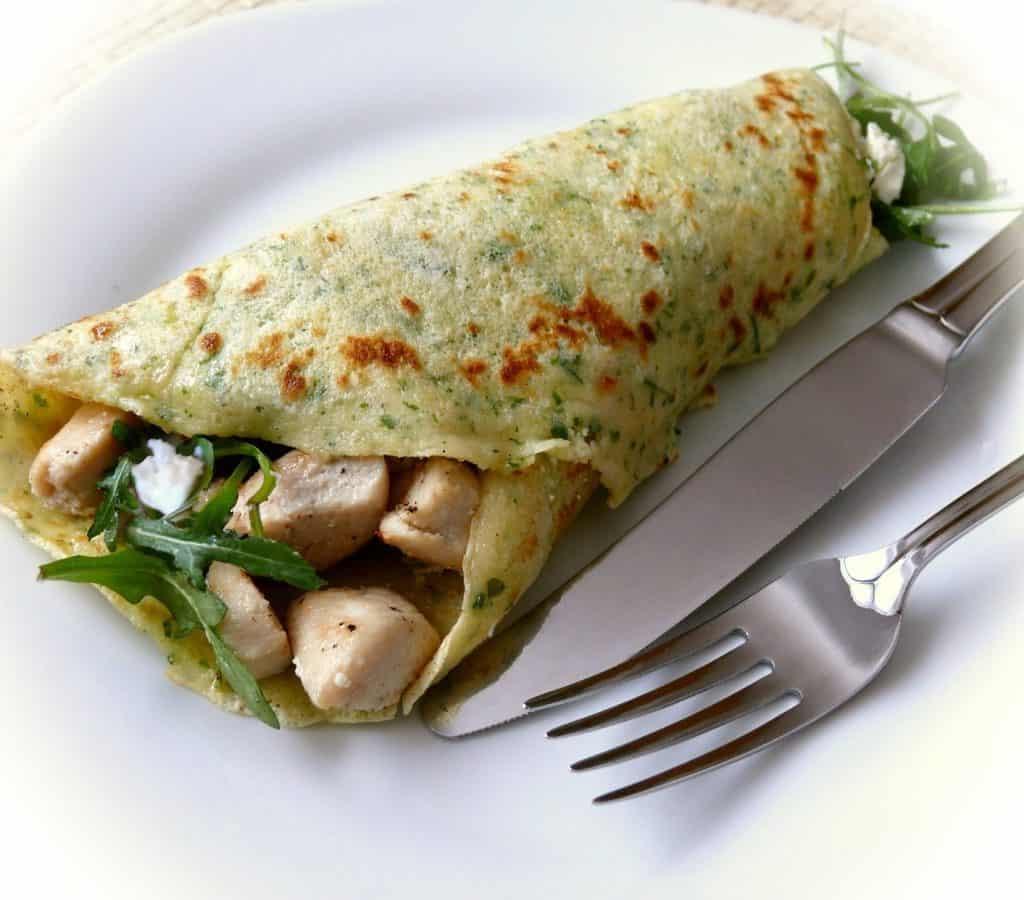 Crepe espinacas