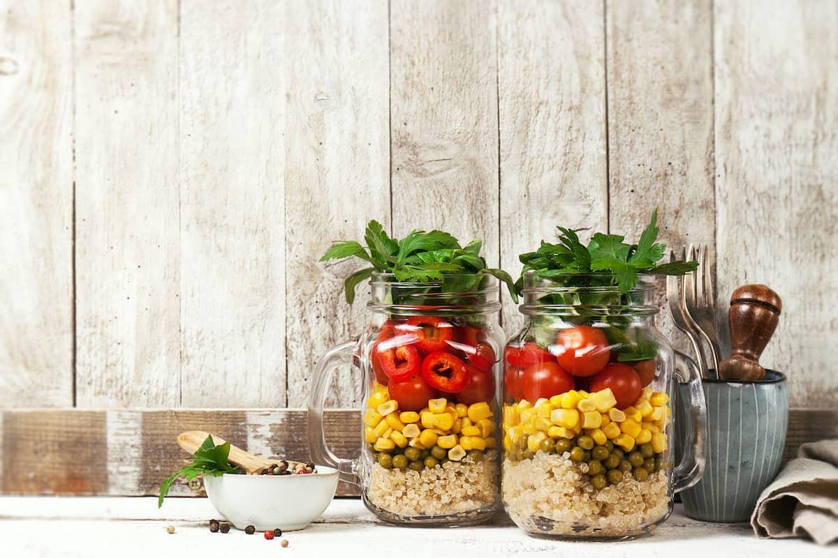 Ensalada en Mason Jar