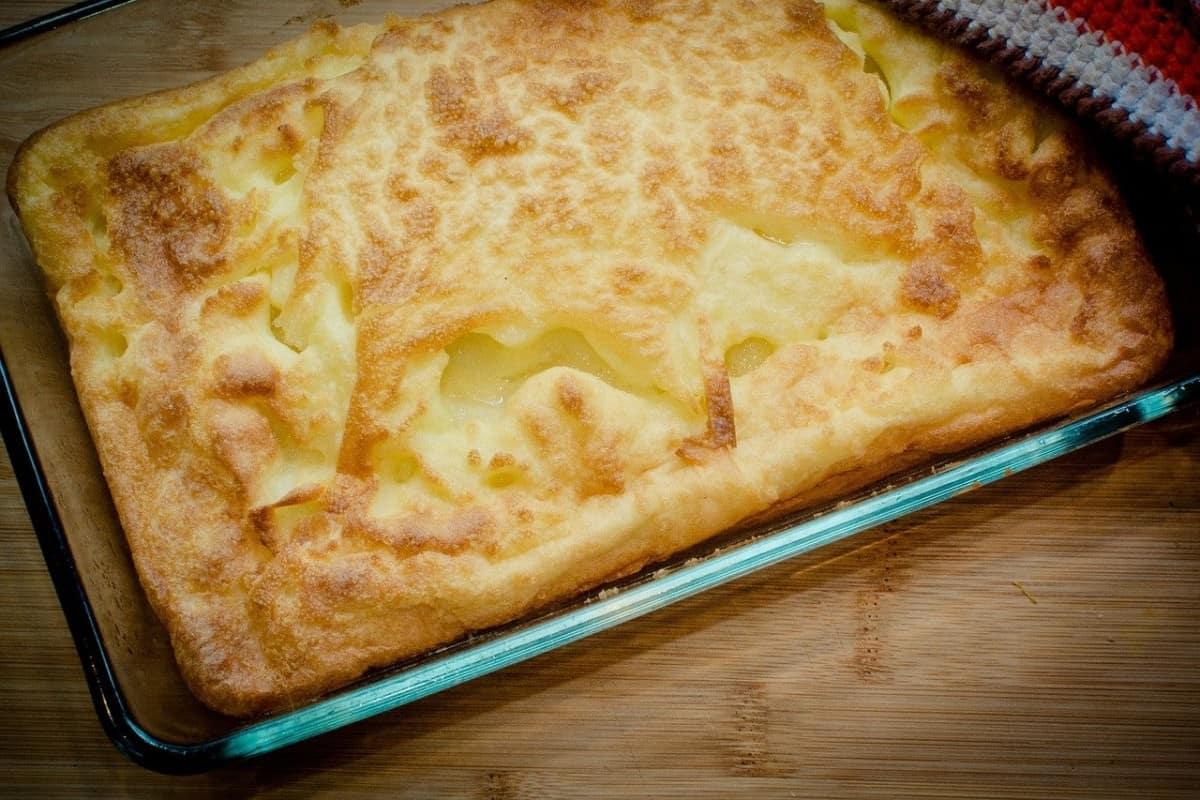 recipiente con polenta al horno
