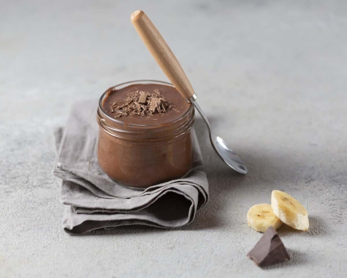 Helado de plátano y chocolate