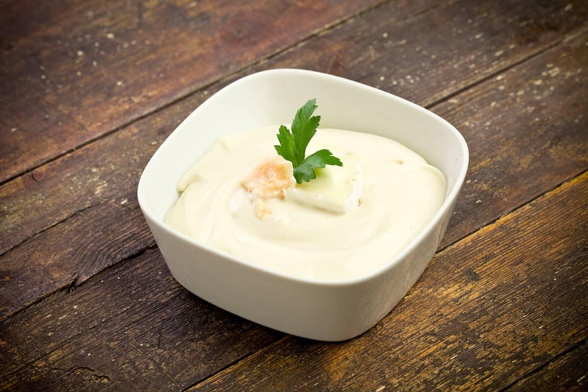 Bowl con salsa gorgonzola