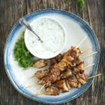 sauce kebab avec brochettes de poulet